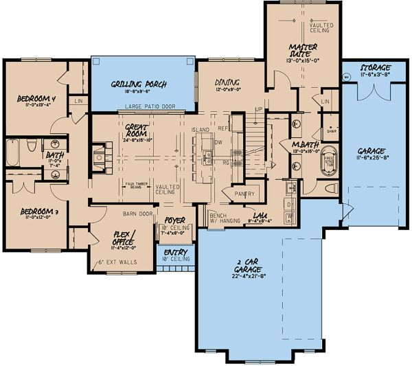 House Design - Traditional Floor Plan - Main Floor Plan #923-150