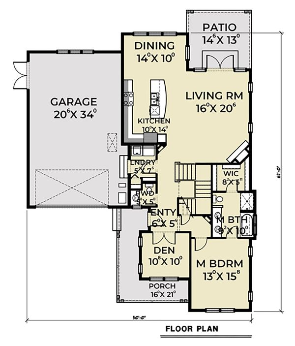 House Plan Design - Craftsman Floor Plan - Main Floor Plan #1070-50