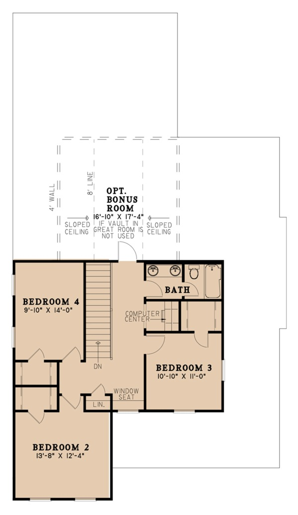 Farmhouse Floor Plan - Upper Floor Plan Plan #923-103