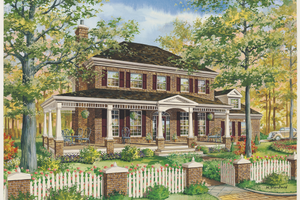 Country Exterior - Front Elevation Plan #25-4776