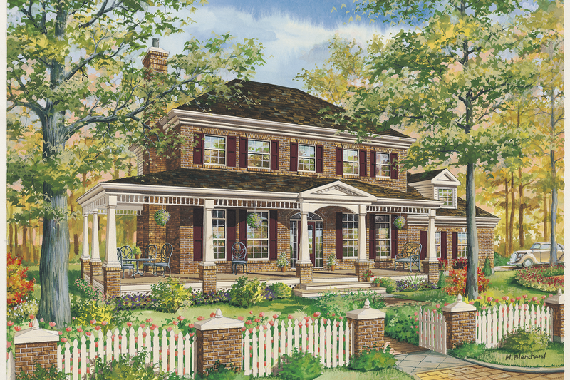 Country Style House Plan - 3 Beds 1 Baths 2371 Sq/Ft Plan #25-4776 Exterior - Front Elevation