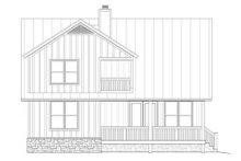 Country Exterior - Rear Elevation Plan #932-12