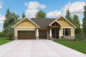 Craftsman Exterior - Front Elevation Plan #48-972