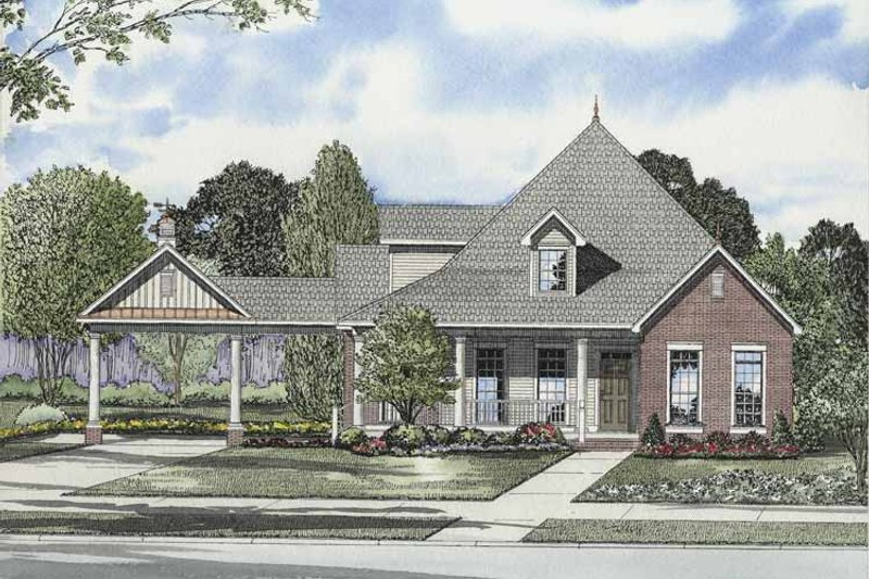 Craftsman Exterior - Front Elevation Plan #17-2863 - Houseplans.com
