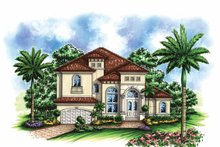 Home Plan - Mediterranean Exterior - Front Elevation Plan #1017-127
