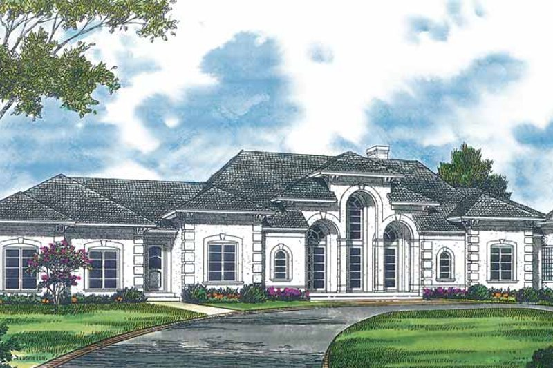 Mediterranean Exterior - Front Elevation Plan #453-370