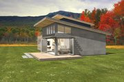 Modern Style House Plan - 3 Beds 2 Baths 2115 Sq/Ft Plan #497-31 Exterior - Other Elevation