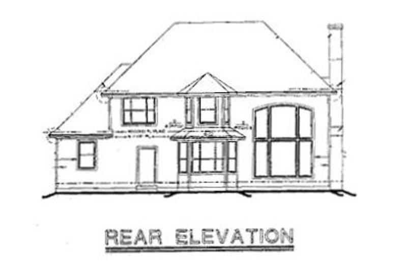 European Exterior - Rear Elevation Plan #20-1100 - Houseplans.com