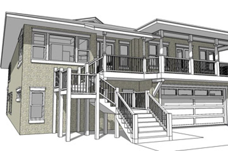 Country Exterior - Front Elevation Plan #64-265 - Houseplans.com