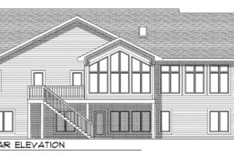 European Exterior - Rear Elevation Plan #70-791 - Houseplans.com