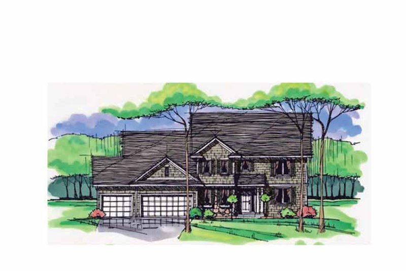 Colonial Exterior - Front Elevation Plan #51-1017 - Houseplans.com