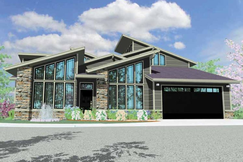 Contemporary Exterior - Front Elevation Plan #509-324