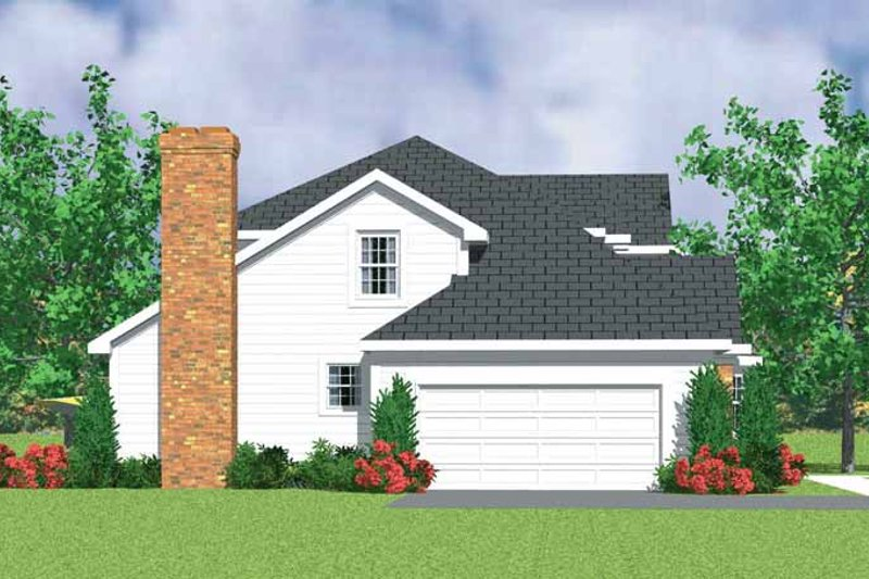 Country Exterior - Other Elevation Plan #72-1078 - Houseplans.com