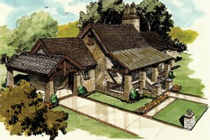 Craftsman Exterior - Front Elevation Plan #942-19