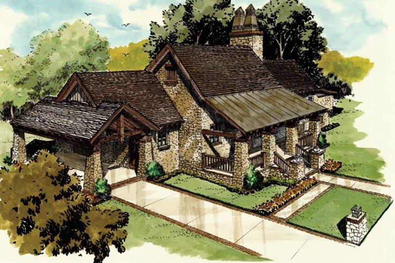 Architectural House Design - Craftsman Exterior - Front Elevation Plan #942-19