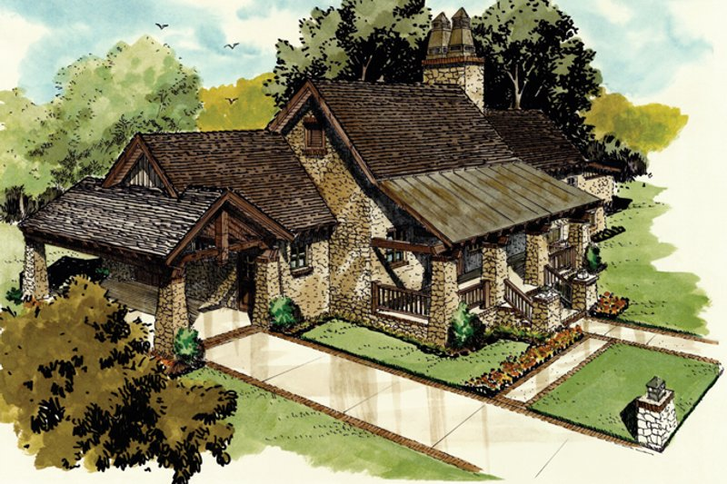 Dream House Plan - Craftsman Exterior - Front Elevation Plan #942-19