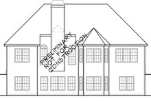 Country Exterior - Rear Elevation Plan #927-933