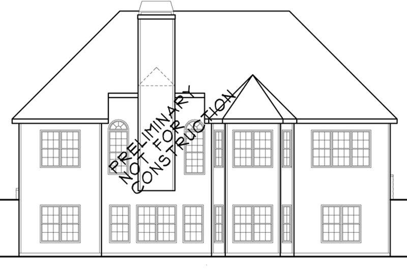 Country Exterior - Rear Elevation Plan #927-933 - Houseplans.com