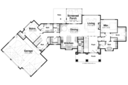 Craftsman Style House Plan - 4 Beds 3 Baths 3827 Sq/Ft Plan #928-253 Floor Plan - Main Floor Plan