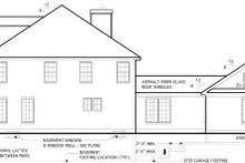 House Plan Design - Colonial Exterior - Other Elevation Plan #1053-51
