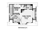 Craftsman Style House Plan - 1 Beds 1 Baths 938 Sq/Ft Plan #51-582 Floor Plan - Upper Floor Plan