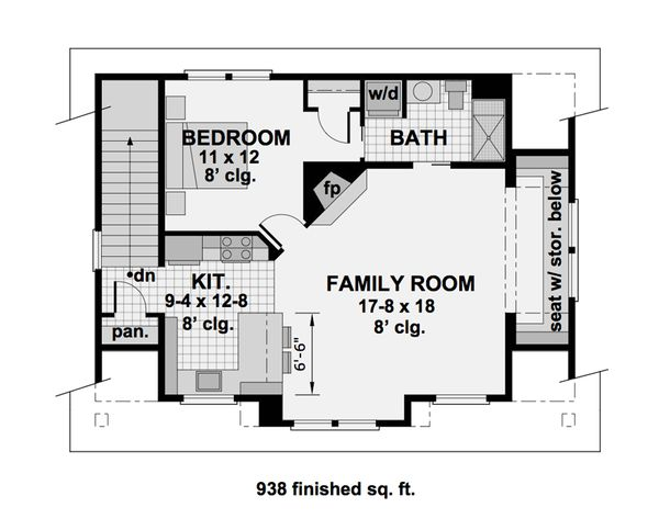Craftsman Floor Plan - Upper Floor Plan Plan #51-582
