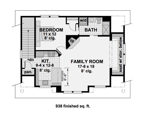 Home Plan - Craftsman Floor Plan - Upper Floor Plan #51-582
