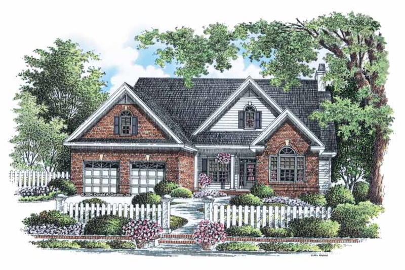 Traditional Exterior - Front Elevation Plan #929-882 - Houseplans.com