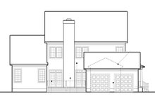 Colonial Exterior - Rear Elevation Plan #1053-56
