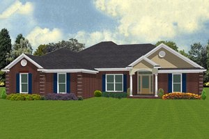 Ranch Exterior - Front Elevation Plan #63-169