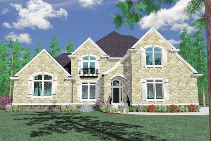 Country Exterior - Front Elevation Plan #509-394 - Houseplans.com