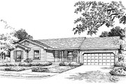 Ranch Style House Plan - 3 Beds 2 Baths 1167 Sq/Ft Plan #417-107 Exterior - Front Elevation