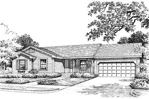 Ranch Exterior - Front Elevation Plan #417-107