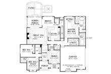 European Floor Plan - Main Floor Plan Plan #929-1010
