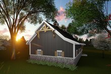 House Plan Design - Country Exterior - Rear Elevation Plan #70-1407