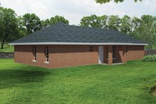 House Plan Design - Ranch Exterior - Rear Elevation Plan #1061-20