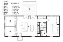 Ranch Floor Plan - Main Floor Plan Plan #497-30