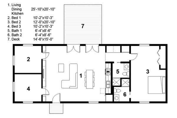 Ranch Floor Plan - Main Floor Plan Plan #497-30