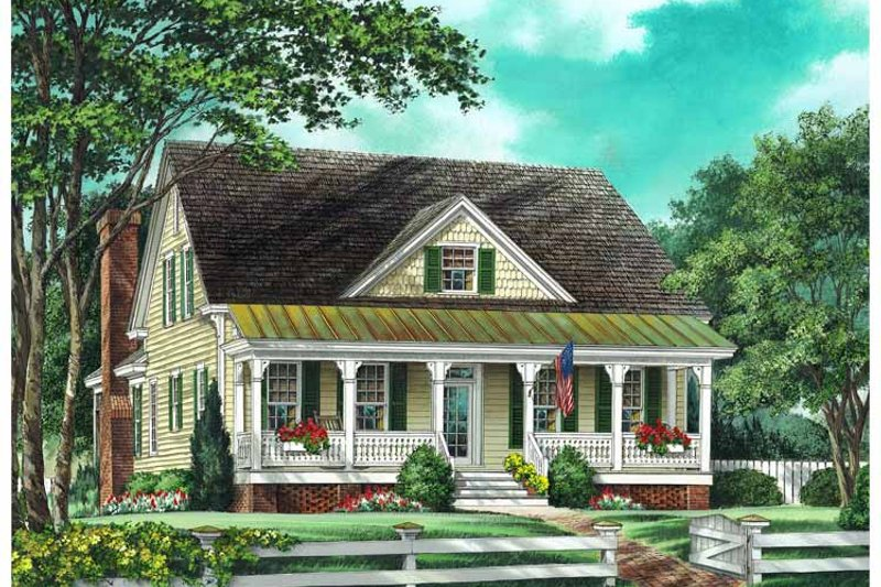 Country Exterior - Front Elevation Plan #137-336