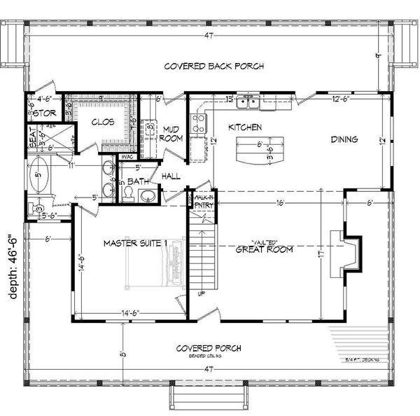 Dream House Plan - Country Floor Plan - Main Floor Plan #932-13