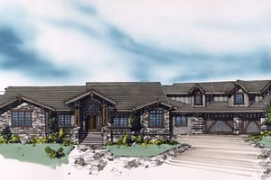 Craftsman Exterior - Front Elevation Plan #509-28