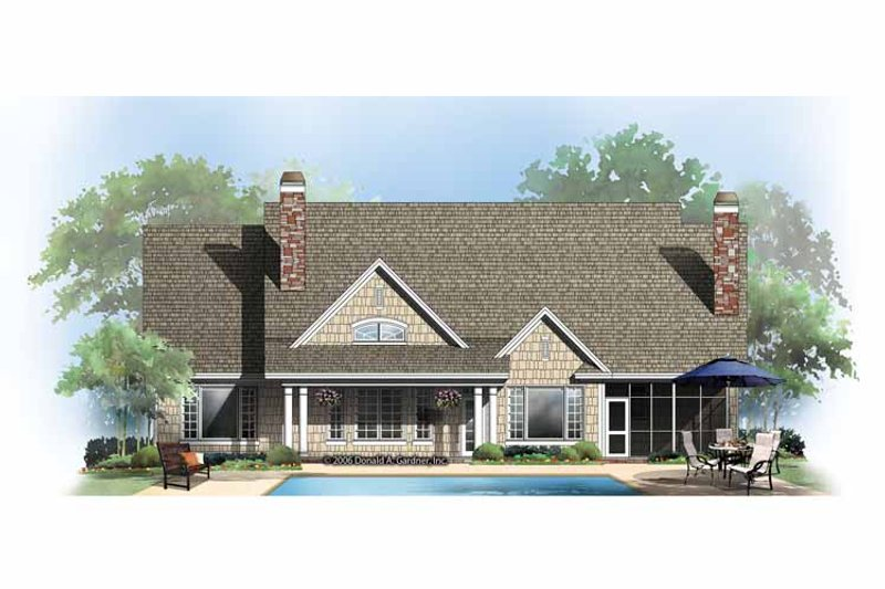 Craftsman Exterior - Rear Elevation Plan #929-862 - Houseplans.com