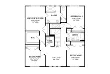 Mediterranean Floor Plan - Upper Floor Plan Plan #1058-62
