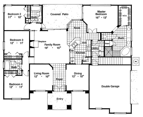 Traditional Floor Plan - Main Floor Plan Plan #417-835