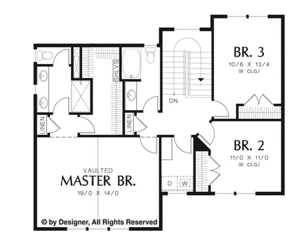 Country Floor Plan - Upper Floor Plan Plan #48-908