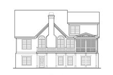 Country Exterior - Rear Elevation Plan #927-9