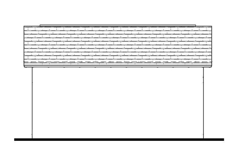 Southern Exterior - Rear Elevation Plan #1058-75 - Houseplans.com