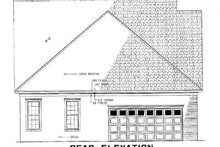 House Plan Design - Cottage Exterior - Rear Elevation Plan #17-1029