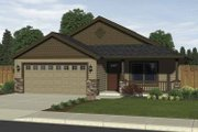 Craftsman Style House Plan - 3 Beds 2 Baths 1246 Sq/Ft Plan #943-1 Exterior - Front Elevation