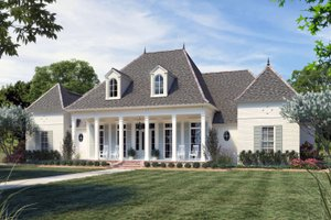 Southern Exterior - Front Elevation Plan #1074-52